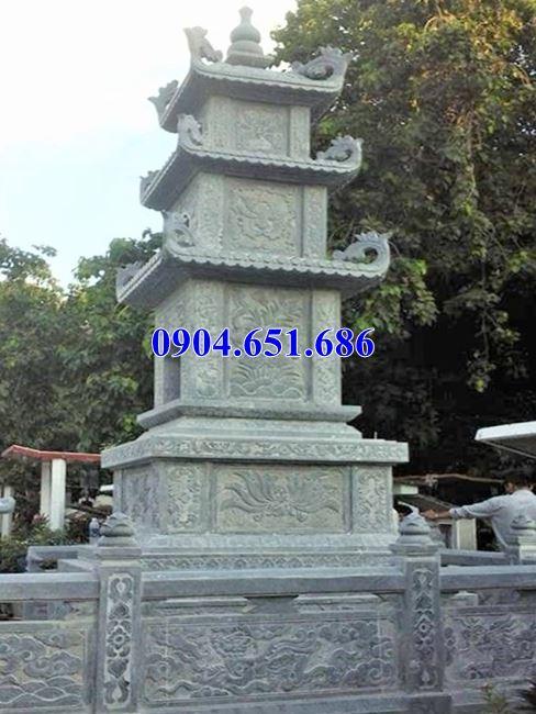 Mẫu tháp mộ đá phật giáo xây để tro cốt giá rẻ