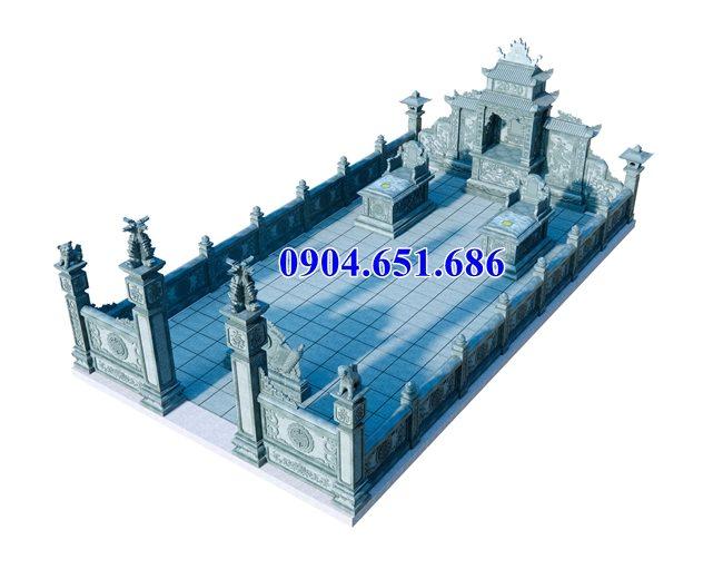 Mẫu thiết kế khu lăng mộ đẹp kích thước chuẩn phong thủy