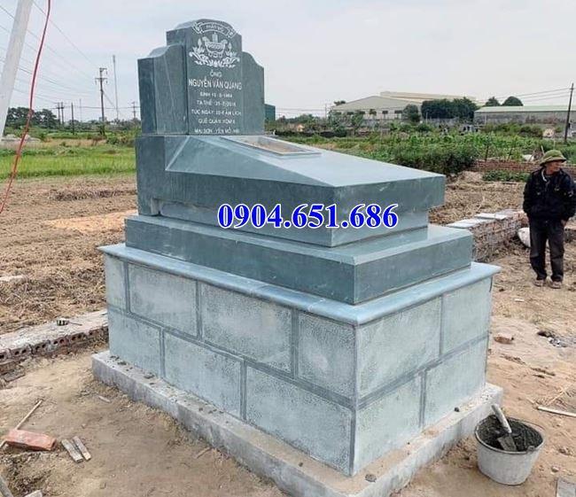 Mẫu mộ đá đơn giản đẹp bán tại Long An 02 – Mộ đá xanh Thanh Hóa