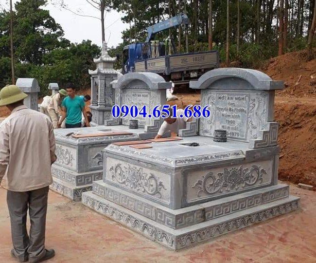 Mẫu mộ đá Ninh Bình bán tại Bình Phước 04 – Mộ đá khối tự nhiên