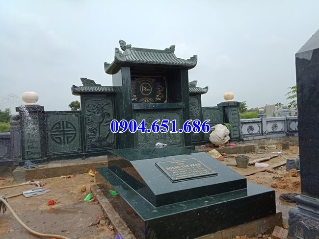 Mẫu mộ đá xanh rêu bán tại Bình Phước 02 – Mộ đá đơn giản đẹp