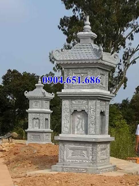 Mẫu tháp mộ đá đẹp bán tại Quảng Ninh – Tháp đá khối tự nhiên