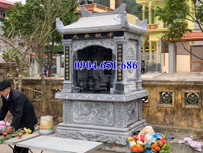Mẫu lăng mộ đá để tro cốt bán tại An Giang 03–Am thờ để tro cốt
