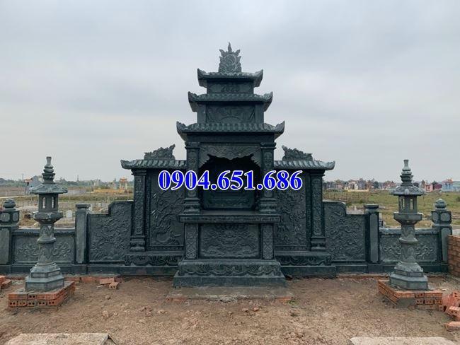 Mẫu lăng mộ đá gia đình bán tại An Giang02– Khu nhà mồ gia đình