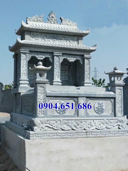 Mẫu mộ đá đôi đẹp bán tại Long An 08 – Nhà mồ song thân