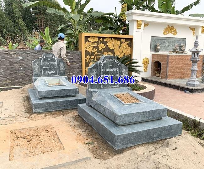 Mẫu mộ đá đơn giản đẹp bán tại Cà Mau 02 – Mộ đá xanh Thanh Hóa