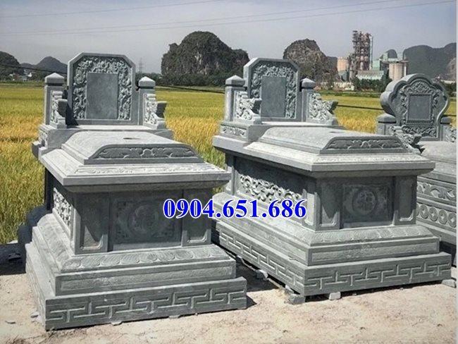 Mẫu mộ đá xanh Thanh Hóa bán tại Bà Rịa Vũng Tàu 05 – Mộ đá khối tự nhiên