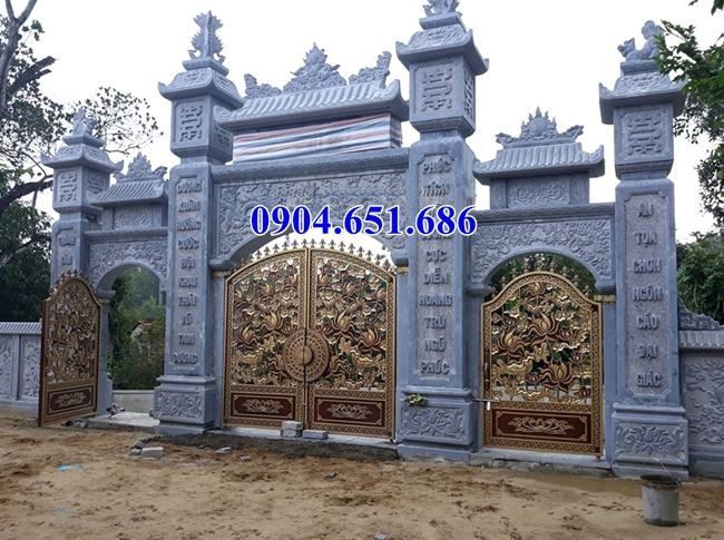 Địa chỉ bán, thiết kế, xây cổng đá khối tự nhiên tại Sài Gòn uy tín chất lượng