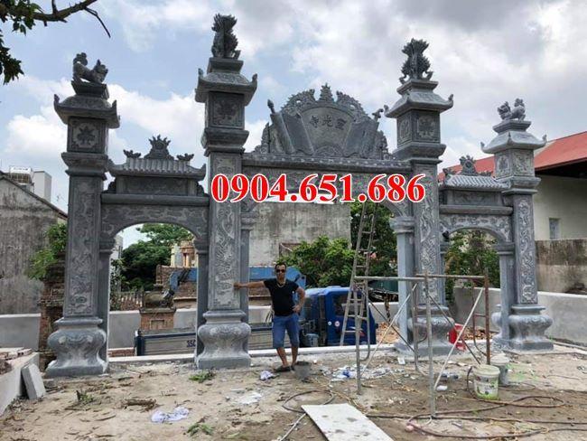 38 Mẫu cổng đá đẹp tại Hà Tĩnh – Thiết kế, xây cổng nhà thờ họ, đình, chùa tại Hà Tĩnh