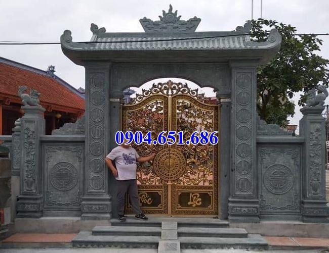 Giá bán, xây cổng đá khối tự nhiên tại Sài Gòn