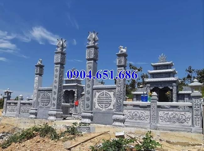 Giá cổng khu lăng mộ, nghĩa trang gia đình dòng họ bằng đá khối tự nhiên