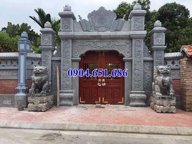 Mẫu cổng đá hiện đại đẹp thiết kế hợp phong thủy