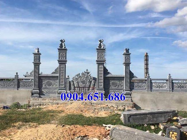 Mẫu cổng đá lăng mộ, nghĩa trang gia đình đẹp bán ở Quảng Ngãi giá rẻ