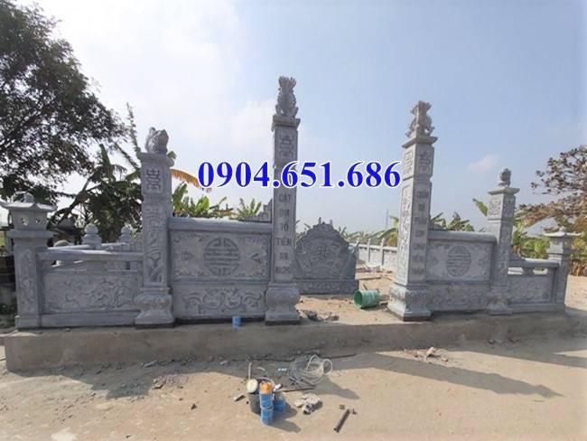 Mẫu cổng đá nghĩa trang gia đình dòng họ xây kích thước chuẩn phong thủy