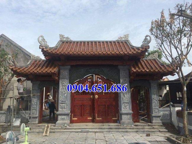 Mẫu cổng đá nhà gỗ, nhà phố đẹp tại Sài Gòn