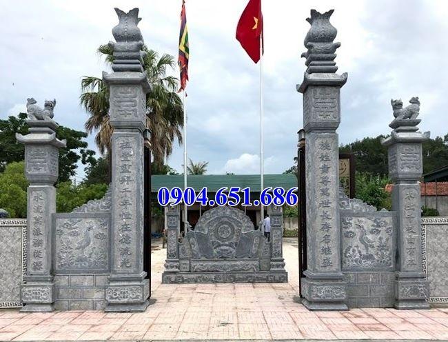 Mẫu cổng đá tứ trụ nhà thờ tộc giá rẻ tại Hà Tĩnh