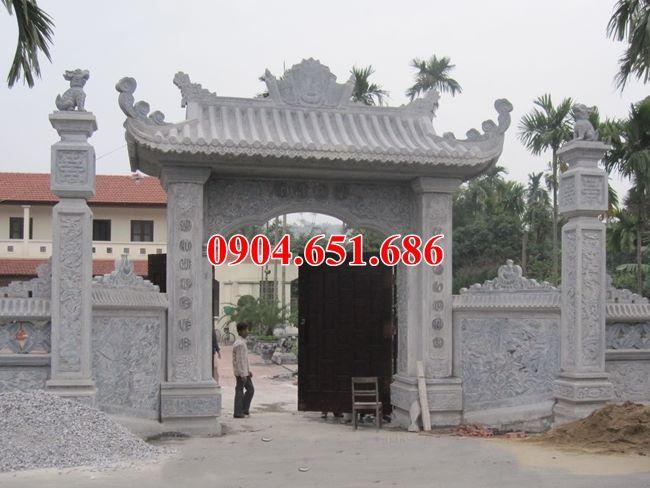 Mẫu cổng đá thiết kế kiểu mái chùa đẹp bán ở Bình Định giá rẻ