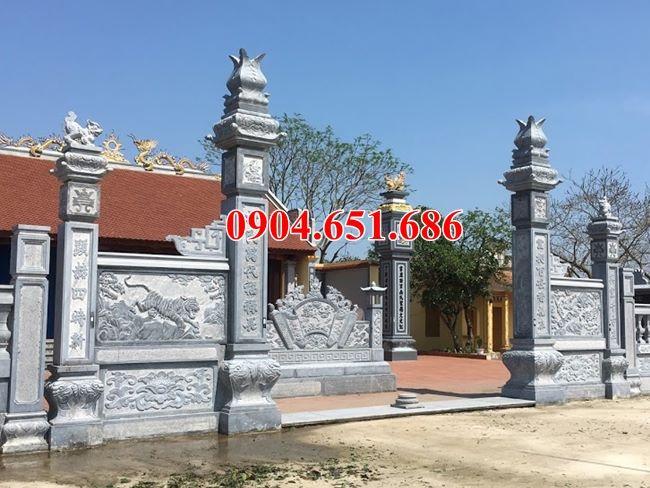 Mẫu cổng đình chùa đá đẹp tại Sài Gòn