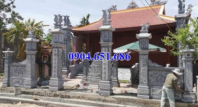 Mẫu cổng đình xây bằng đá khối tự nhiên đơn giản đẹp tại Quảng Ngãi