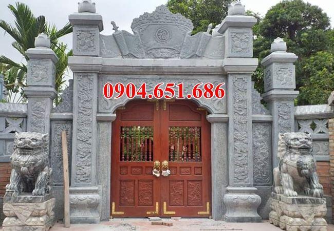 Mẫu cổng bằng đá khối tự nhiên đẹp bán tại Sài Gòn 03 – Cổng đá tự nhiên