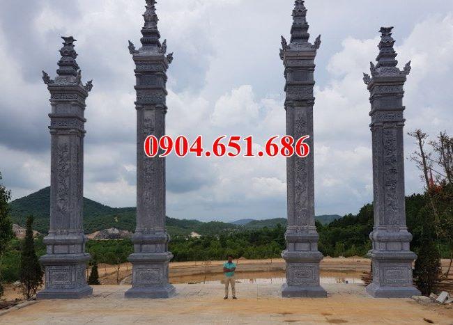 Mẫu cổng chùa kiểu tứ trụ đơn giản đẹp tại Đồng Nai