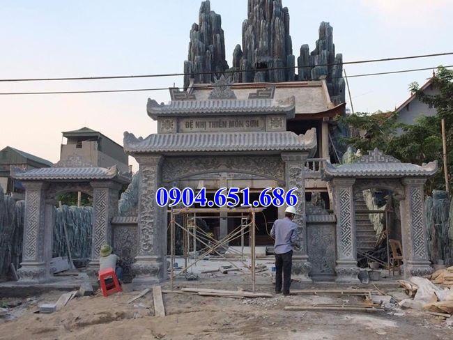 Mẫu cổng chùa tam quan thiết kế chuẩn phong thủy bán tại Hà Tĩnh