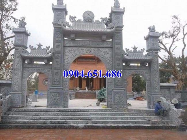 Mẫu cổng chùa thiết kế đẹp kích thước chuẩn phong thủy