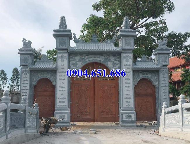 Mẫu cổng chùa xây bằng đá khối tự nhiên đẹp bán tại Đồng Nai