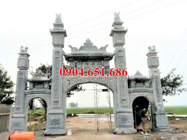 Mẫu cổng làng đá khối tự nhiên đẹp bán và xây tại Quảng Ngãi