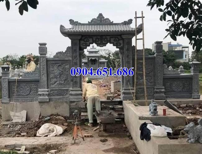 Mẫu cổng nghĩa trang gia tộc bằng đá xanh đẹp
