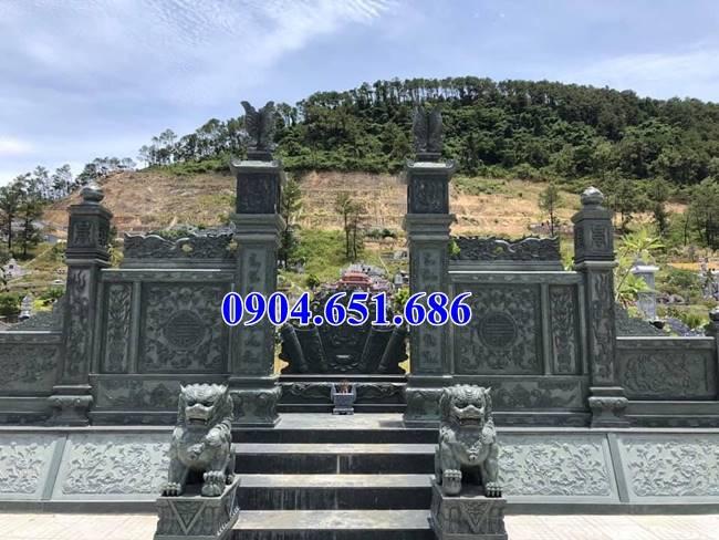 Mẫu cổng nhà mồ, lăng mộ đá xanh rêu thiết kế đẹp