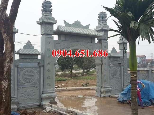 Mẫu cổng nhà thờ họ đá xanh rêu đẹp nhất hiện nay
