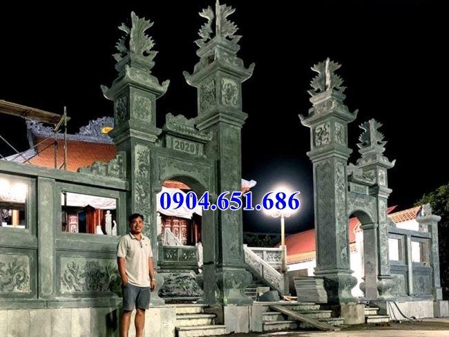 Mẫu cổng nhà thờ họ, nhà thờ tộc đá xanh rêu đẹp tại Sài Gòn