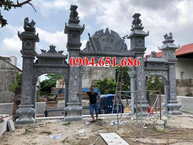 Mẫu cổng tam quan nhà thờ tộc đá tự nhiên đẹp