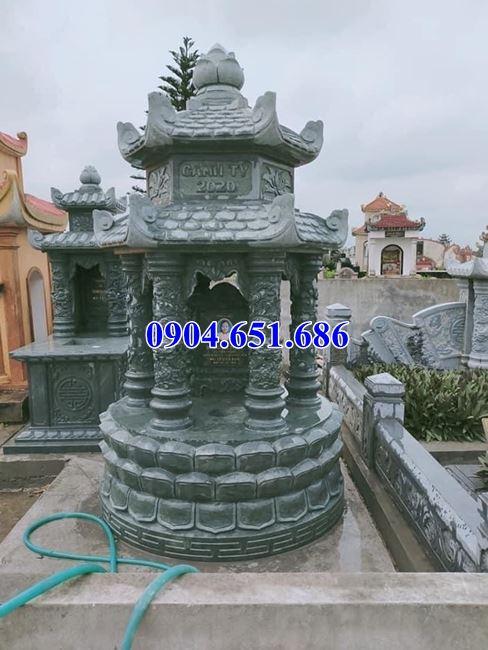 Mẫu mộ tháp đá xanh rêu Thanh Hóa đẹp bán toàn quốc