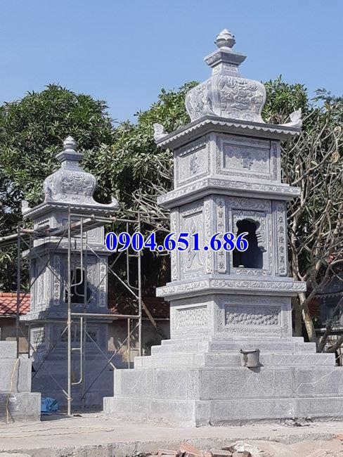 Mộ đá hình tháp – Xây mộ tháp đá để hũ cốt, tro cốt uy tín chất lượng