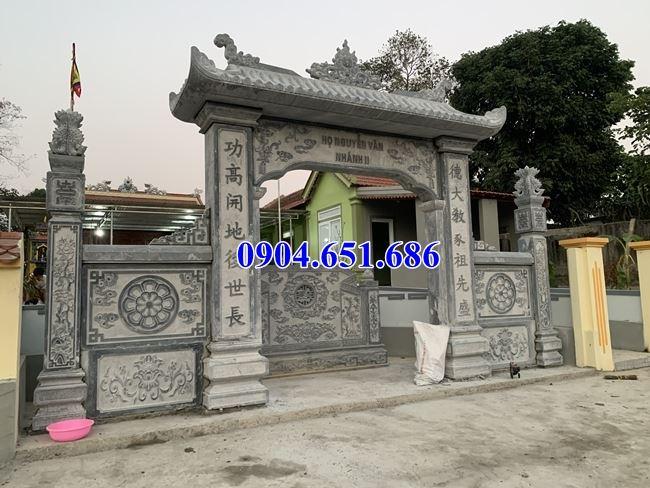 Địa chỉ bán, xây cổng nhà thờ họ bằng đá tự nhiên tại Bắc Ninh uy tín chất lượng giá rẻ