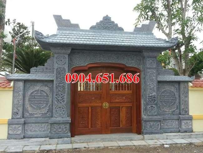 Mẫu cổng đá nhà thờ họ đẹp tại Bắc Ninh thiết kế hiện đại