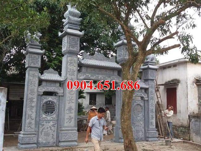 Mẫu cổng đình đá tự nhiên đẹp bán tại Bắc Ninh