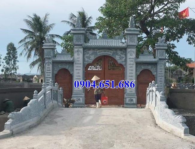Mẫu cổng chùa đẹp xây bằng đá tự nhiên bán tại Bắc Ninh