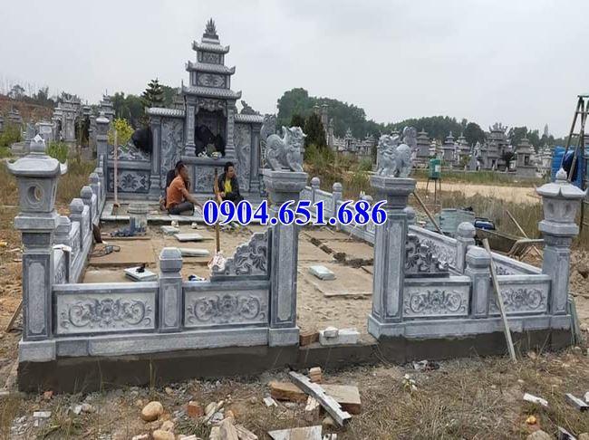 Mẫu khu nhà thờ chung đá lăng mộ kích thước chuẩn phong thủy