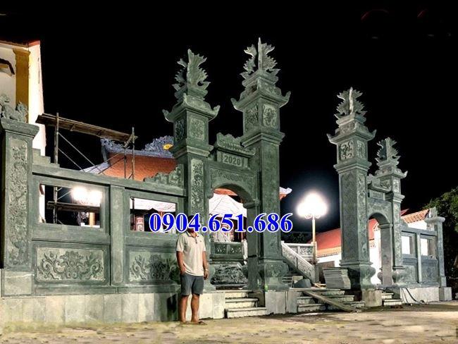 Thiết kế xây cổng nhà thờ họ, cổng nhà thờ tộc đá xanh rêu đẹp nhất tại Bắc Ninh