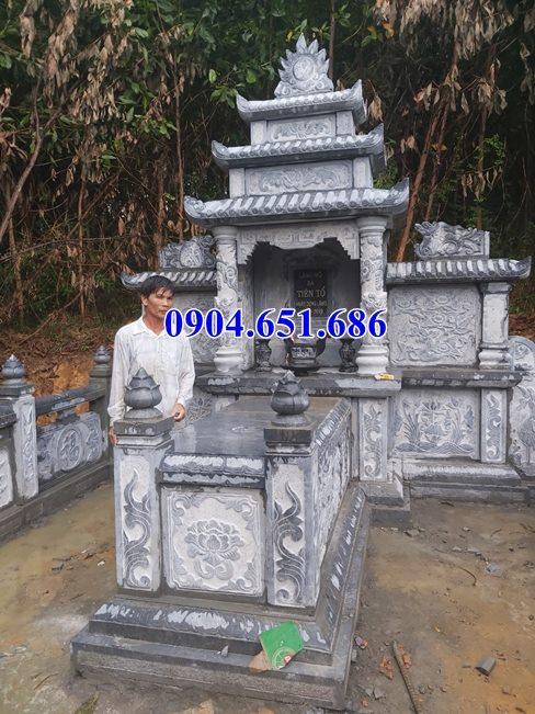 Mẫu lăng mộ tổ đẹp bán tại Quảng Bình 10 – Mộ tổ đá khối tự nhiên