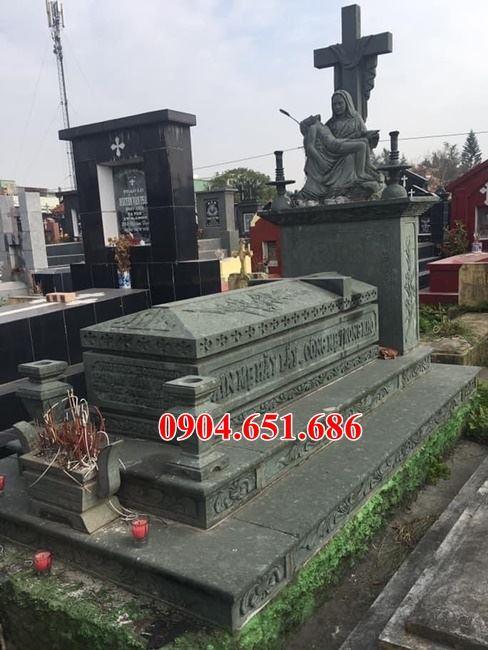 Bán mộ công giáo đá xanh đẹp ở Vĩnh Phúc giá rẻ