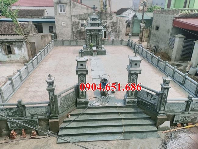 Khu lăng mộ gia đình công giáo đẹp xây chuẩn phong thủy