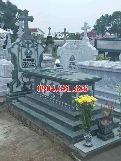 Mẫu bia mộ công giáo đá khối đẹp bán ở Thái Bình