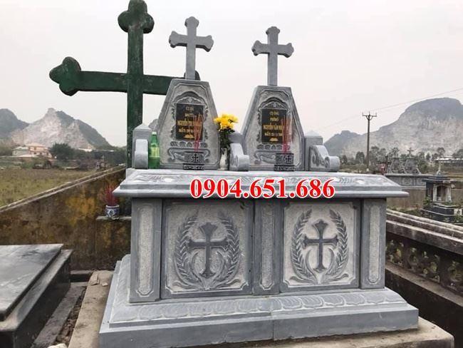 Mẫu mộ đôi đạo thiên chúa đơn giản đẹp