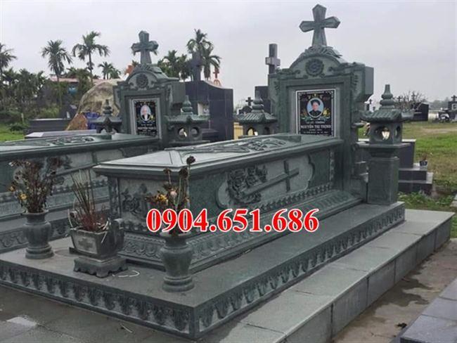 Thiết kế mộ đá công giáo đẹp bán tại Thái Bình – Xây lăng mộ đạo đẹp tại Thái Bình